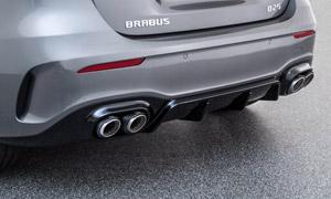 Диффузор заднего бампера (с насадками) Brabus для Mercedes A-class W177