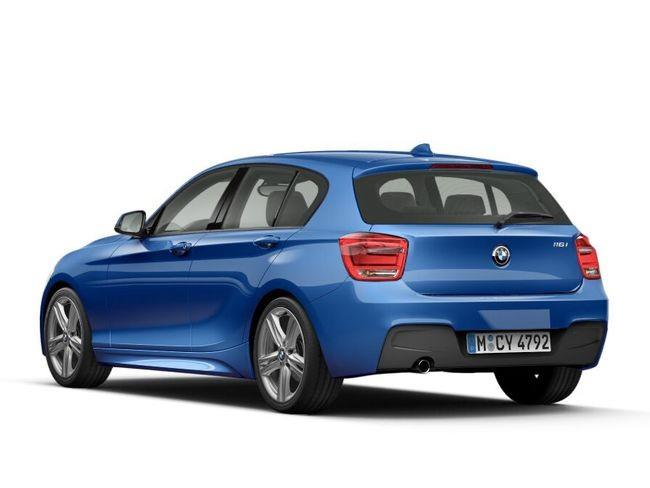 Задний диффузор (черный матовый) M Performance для BMW 1 Series F20/F21 (код 51192212767)
