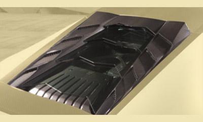 Накладка моторного отсека (карбон) со стеклом Mansory для Lamborghini Huracan