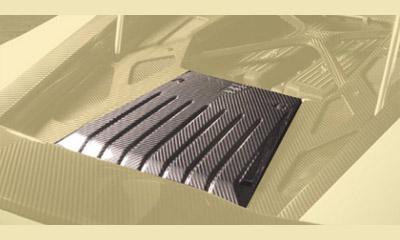 Накладка моторного отсека нижняя (карбон) Mansory Torofeo для Lamborghini Huracan