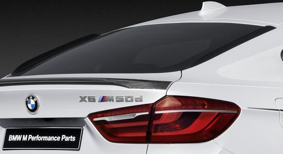 Задние плавники (аэродинамические) M Performance для BMW X6 F16 (код 51192357167)