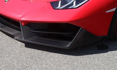 Боковые накладки на передний бампер (карбон) Novitec для Lamborghini Huracan LP 570
