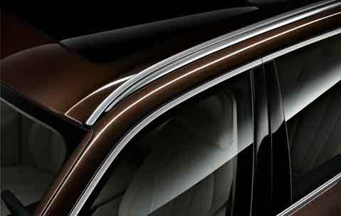 Левый леер на крыше (серебристый, сатинированный) для BMW X6 F16 (код 51137333531)