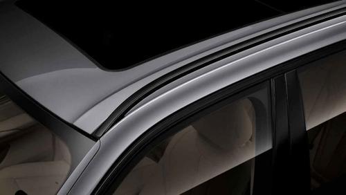 Левый леер на крыше (зеркальный блеск, черный) для BMW X6 F16 (код 51137342197)