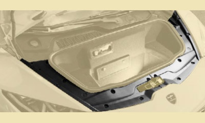 Накладка багажного отсека нижняя (карбон) Mansory для Lamborghini Huracan