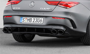 Диффузор заднего бампера с насадками CLA45 AMG для Mercedes CLA-class C118