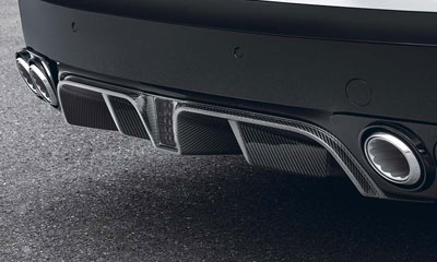 Диффузор заднего бампера (карбон) Startech для Bentley Flying Spur II