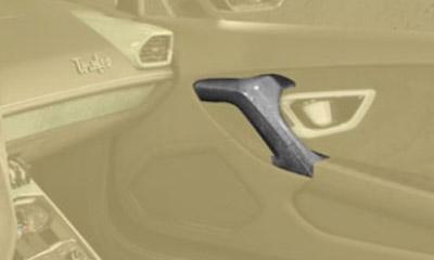 Накладки на дверные ручки (карбон) Mansory для Lamborghini Huracan