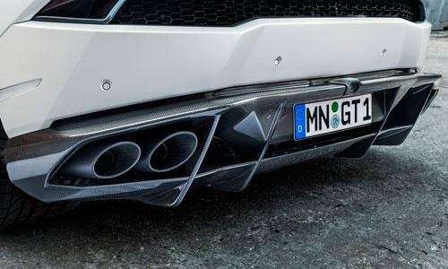Диффузор заднего бампера (карбон) Novitec для Lamborghini Huracan LP 570