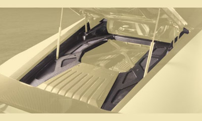 Накладка моторного отсека верхняя (карбон) Mansory для Lamborghini Huracan