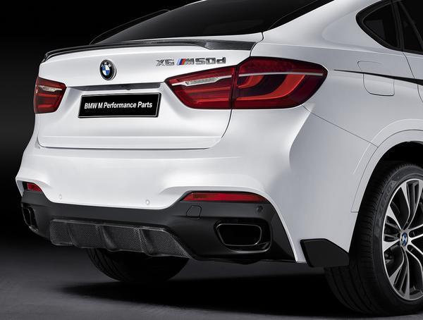 Задний диффузор (карбон) M Performance для BMW X6 F16 (код 51192357209)