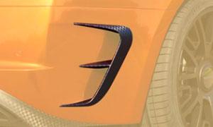 Накладки на задний бампер (карбон) Mansory для Bentley Continental GT II