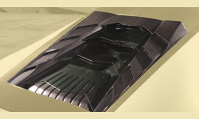Накладка моторного отсека (карбон) со стеклом Mansory Torofeo для Lamborghini Huracan