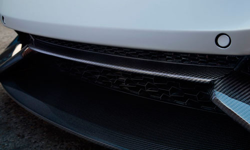 Вставка в передний бампер (карбон) Novitec для Lamborghini Huracan LP 570