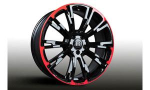 Колесный диск Monoblock R red / black Brabus для Mercedes A-class W177