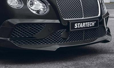 Спойлер переднего бампера (карбон) Startech для Bentley Continental GT II