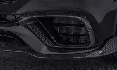 Вставки в передний бампер (карбон) Brabus E63 для Mercedes E-class Coupe C238