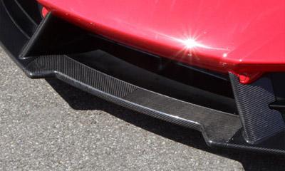 Центральная накладка на передний бампер (карбон) Novitec для Lamborghini Huracan LP 570