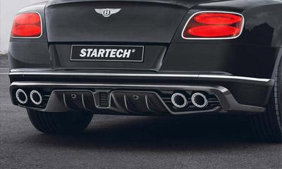 Диффузор заднего бампера (с насадками, карбон) Startech для Bentley Continental GT II