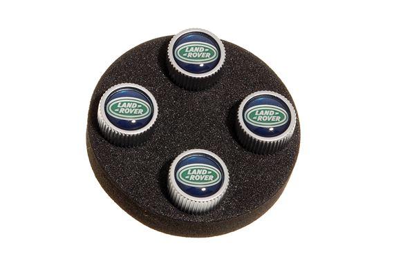 Комплект колпачков на вентиль Black Jack Design для Land Rover Freelander