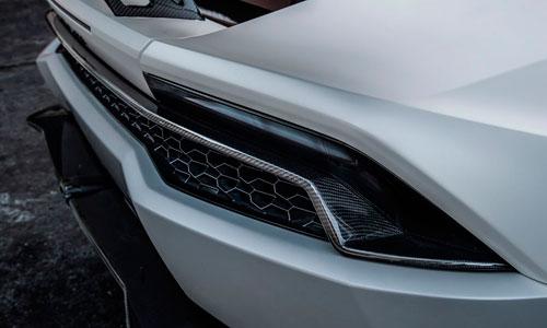 Накладки на задний бампер (карбон) Novitec для Lamborghini Huracan LP 610