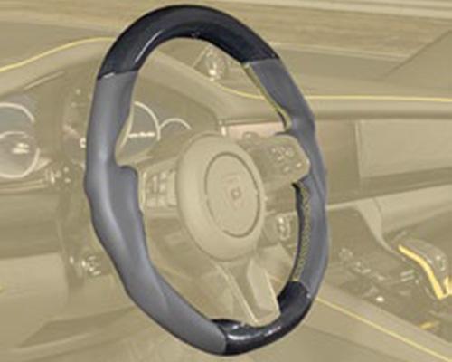 Рулевое колесо с логотипом (кожа / карбон) Mansory для Porsche Panamera Sport Turismo