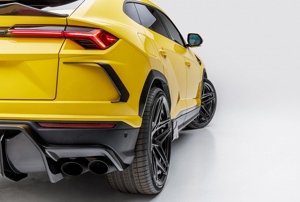 Накладки на задний бампер (карбон) Vorsteiner для Lamborghini Urus