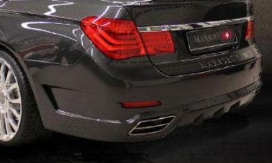 Задний бампер (с карбоновым диффузором и насадками) Mansory для BMW 7-Series F01/F02