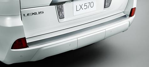 Металическая накладка на задний бампер LEXUS LX570 LX450D