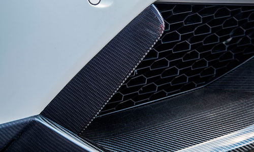 Накладки на воздухозаборники переднего бампера (карбон) Novitec для Lamborghini Huracan LP 610