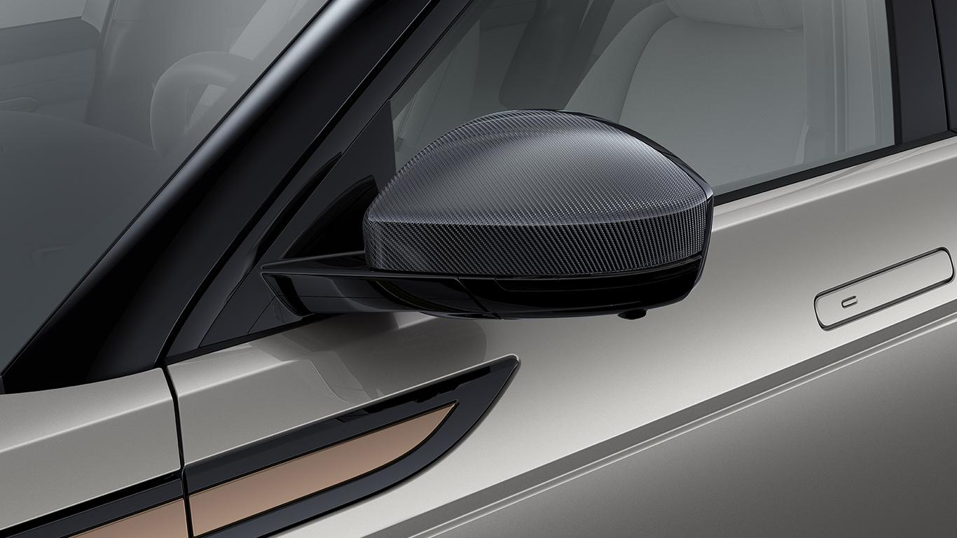 Накладки на зеркала с отделкой Carbon Fibre (карбон) для Range Rover Evoque