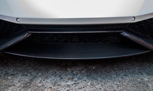 Центральная накладка на передний бампер (карбон) Novitec для Lamborghini Huracan LP 610