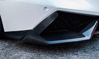 Боковые накладки на передний бампер (карбон) Novitec для Lamborghini Huracan LP 610