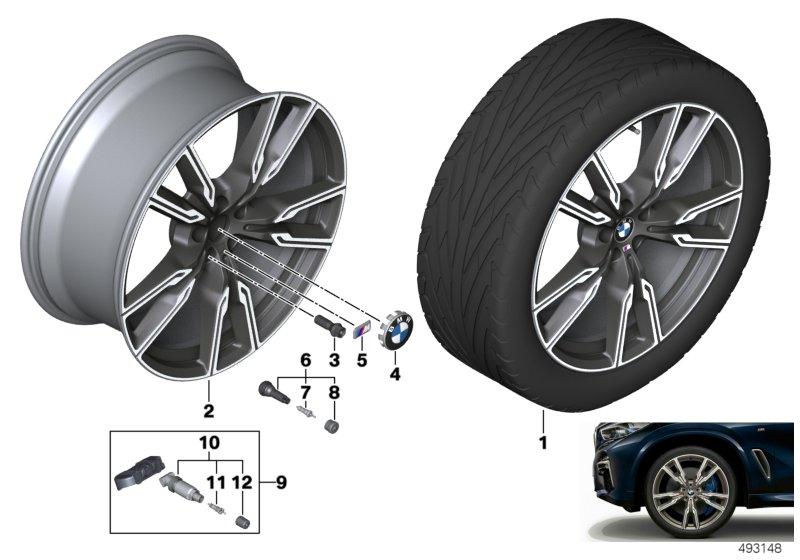 Легкосплавное дисковое колесо (V-образные спицы) 747M для BMW X5 G05