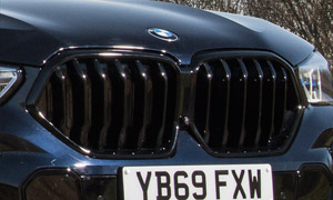 Решетка радиатора (черная) M Performance для BMW X6 G06