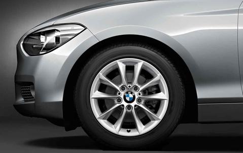 Легкосплавное дисковое колесо (V-образные спицы) 411 для BMW 1 Series F20/F21