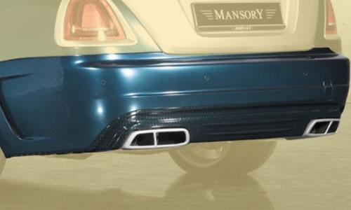 Задний бампер (с насадками на глушители) Mansory для Rolls-Royce Wraith