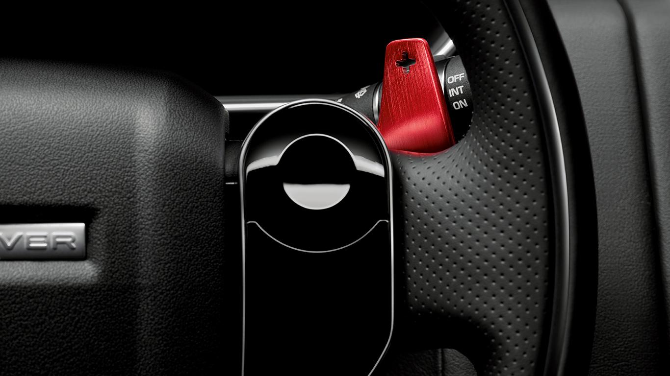 Подрулевые лепестки переключения передач (анодированне Red) для Range Rover Evoque