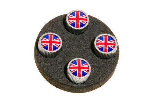 Комплект колпачков на вентиль Red / Blue Union Jack Design для Range Rover Evoque