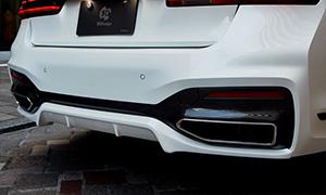 Накладка на задний бампер 3D Design для BMW 7-Series G11/G12