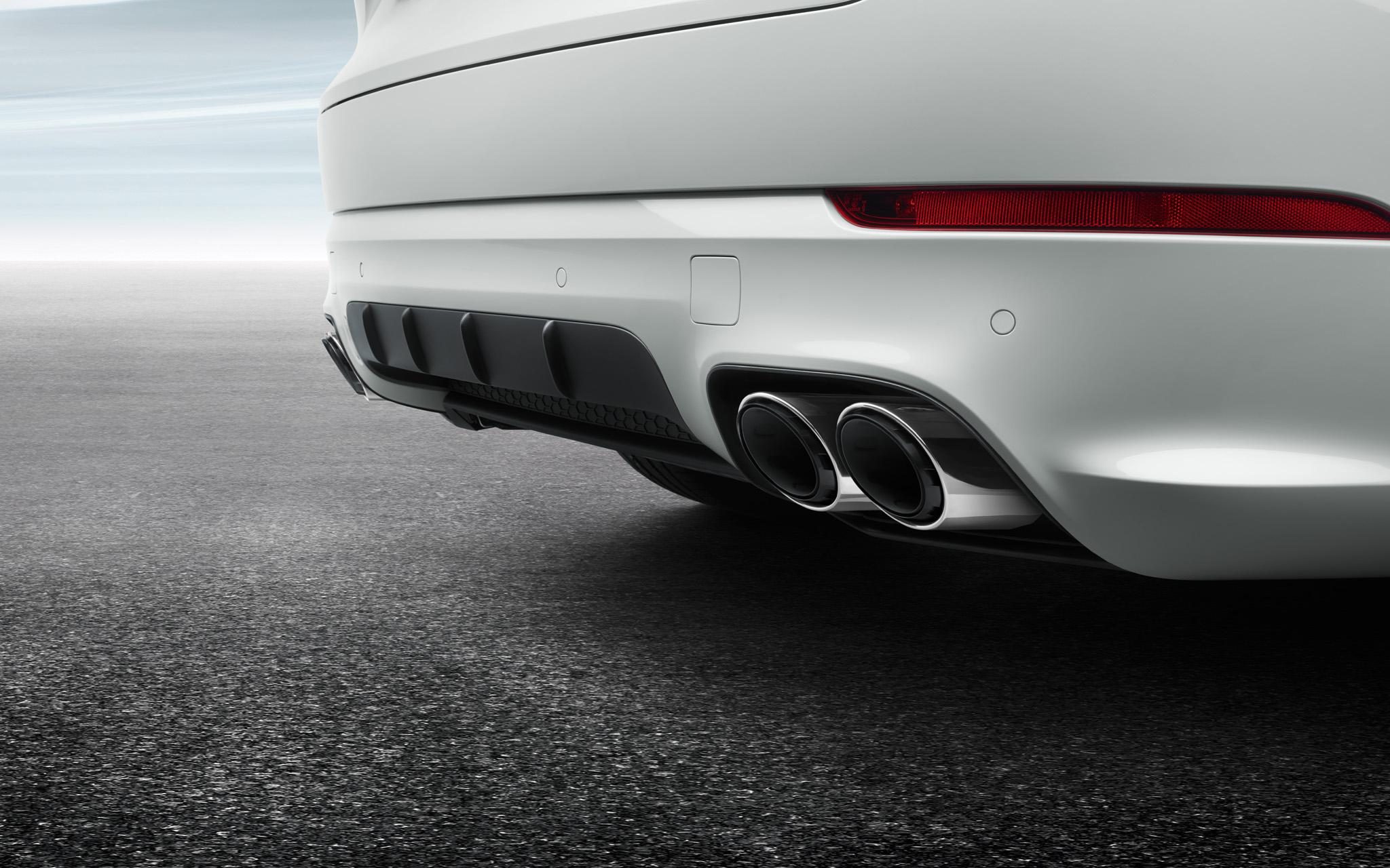 Спортивные выпускные трубы (Silver) для Porsche Cayenne E3
