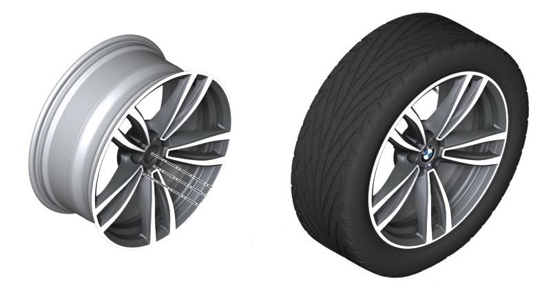 Легкосплавный колесный диск (сдвоенные спицы) 647 M для BMW 7 Series G11/G12 LCI