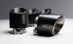 Насадки на глушители (карбон) TechArt для Porsche Cayenne Coupe E3