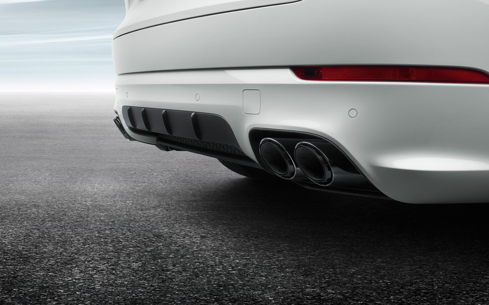 Спортивные выпускные трубы (Black) для Porsche Cayenne E3