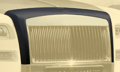 Накладка на решетку радиатора (карбон) Mansory для Rolls-Royce Wraith