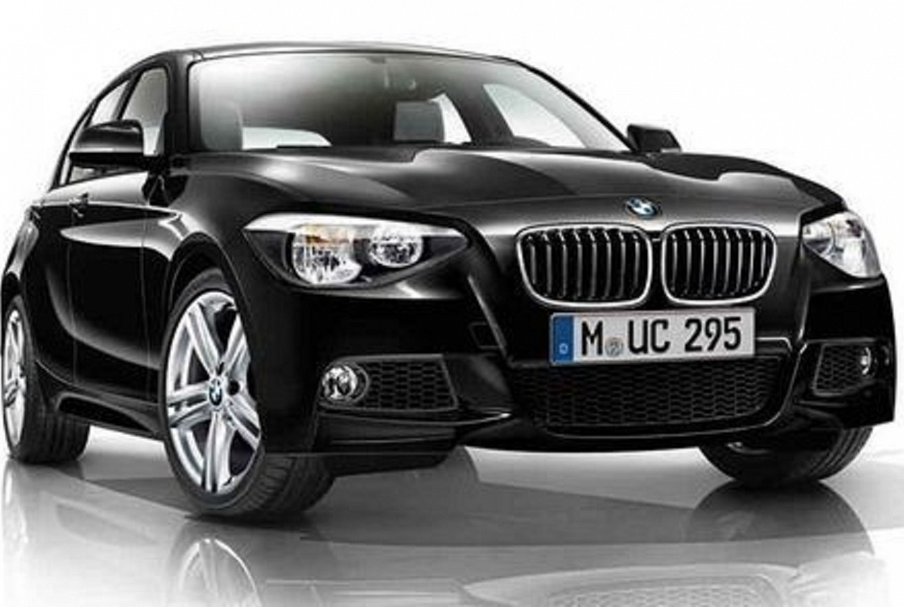 Передняя насадка (черная матовая) левая / правая для BMW 1 Series F20/F21 (код 51192336503)