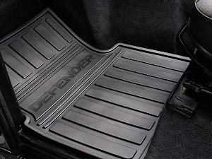 Резиновые коврики салона (передние) для Land Rover Defender
