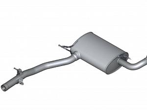 Задний дополнительный глушитель для BMW X3 F25