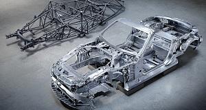 Каркас автомобиля Mercedes SL поражает воображение уникальной комбинацией сверхлегких материалов