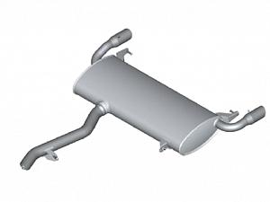 Задний дополнительный глушитель для BMW X3 G01